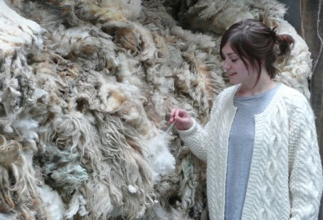 Sarah Laurenson of Jamieson & Smith: 'Could take more wool if it was available' - Photo: Pete Bevington