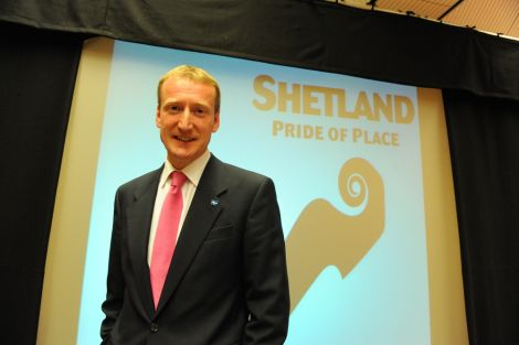 Tavish winning his fourth Scottish Parliament election - Photo Malcolm Younger