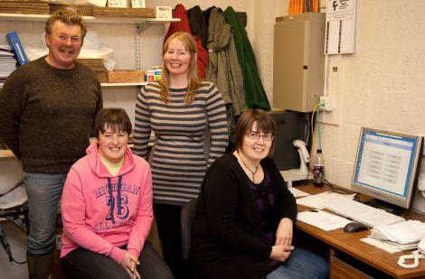 (From top-left to bottom-right) Ronnie Eunson, Hazel MacKenzie, Johnina Henderson & Elaine Sinclair.