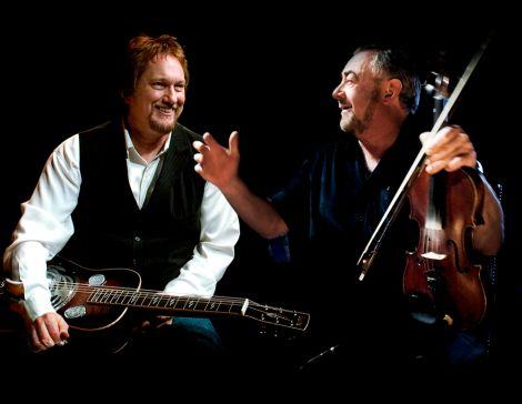 Musical directors Jerry Douglas and Aly Bain (right) - Photo:John Mackinnon