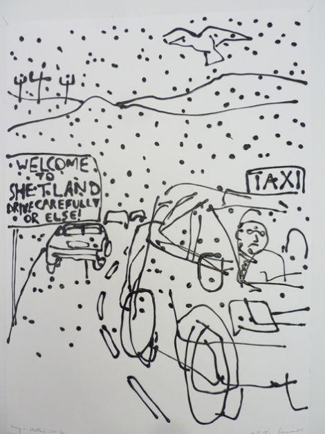 Driving in Shetland - by JJ Ignatius Brennan