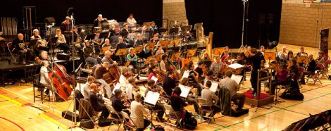 The fyll symphony orchestra during rehearsals on Sunday afternoon - all photos: Billy Fox