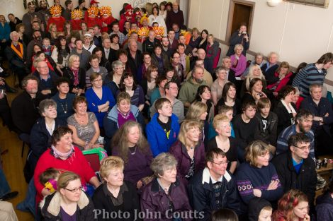 The audience in the Uyeasound hall enjoying performances.