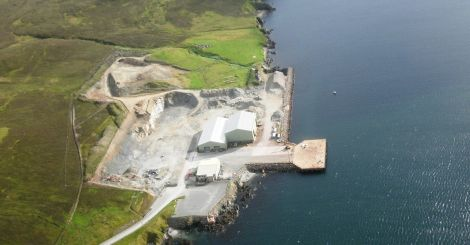 Dales Voe base due to be converted into the UK's largest decommissioning facility. Pic. L Farmer