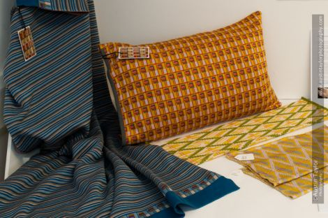 Wendy Shaw's hand finished knitted pieces testify to a love of geometric pattern and the influence of the Bauhaus - Photo: Austin Taylor Photography