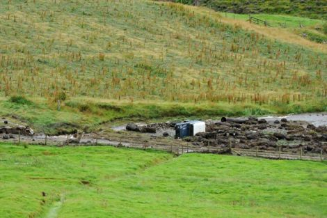 Mr Eunson's Land Rover ended up down quarter of a miles down the burn.
