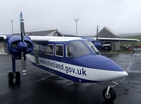 The current service to the outer isles is provided by Directflight on behalf of Shetland Islands Council - Photo: Shetland News