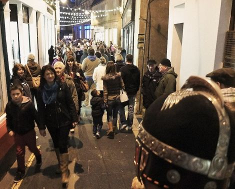 Da Street was packed on Saturday night for the winter festival. Pic. Chris Brown