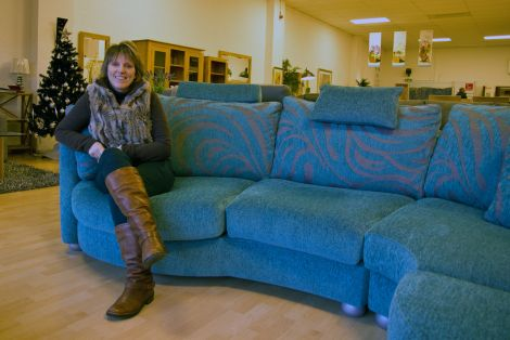 Raewyn in Irvine's well-stocked showroom