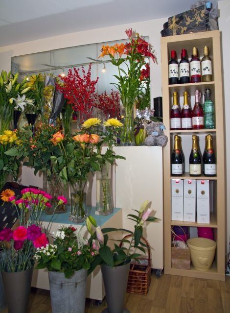 Fresh flowers and wine both benefit from the new lighting