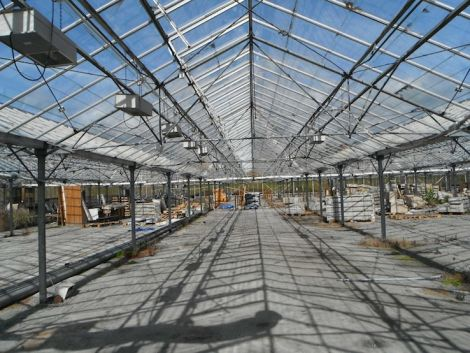 The Tingwall glasshouse has lain empty for several years. Photo. Transition Shetland