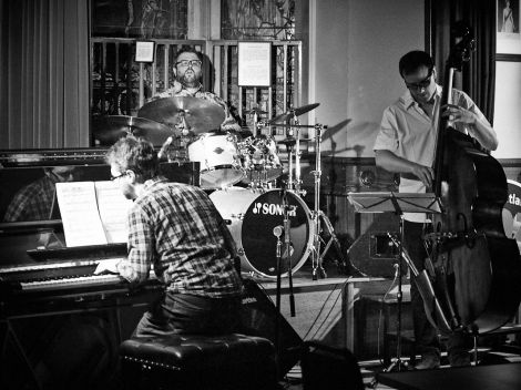 Trio Read are Tom Bancroft on drums, Tom Cawley on piano and bassist Per Zanussi.