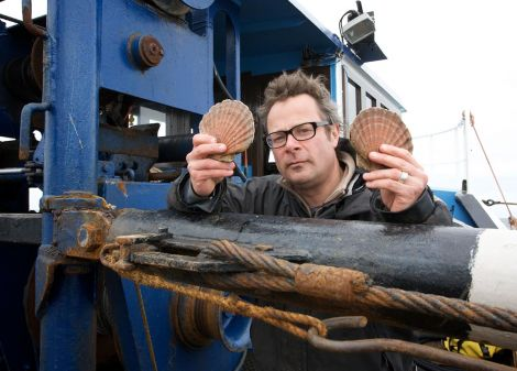 Hugh Fearnley Whittingstall says Shetland's inshore fishery sets an example. Photo Channel4