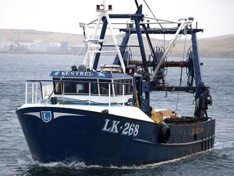 The Shetland shellfish boat Kestrel. Photo SSMO