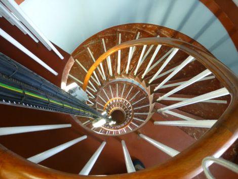 Inside the Fair Isle South Lighthouse - Photo: Tommy Hyndman