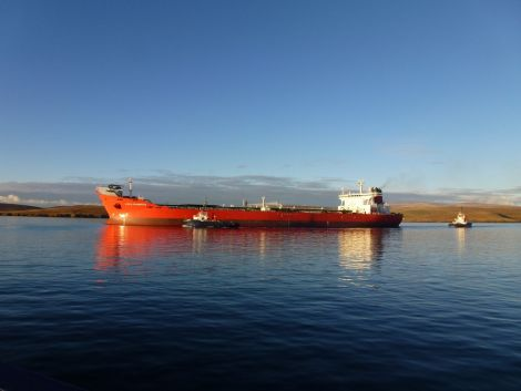 Last oil? Shuttle tanker Loch Rannoch is about to deliver her final load before the Schiehallion field closes for a major upgrade. Photo John Bateson