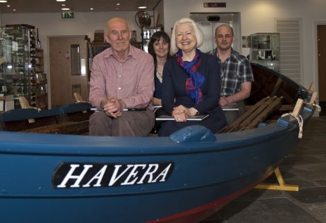 Havera authors in the Ann (left to right) Laughton Johnson, Pauleen Wiseman, Christine De Luca and Mark Sinclair - Photo: Davie Cooper/Shetland Amenity Trust