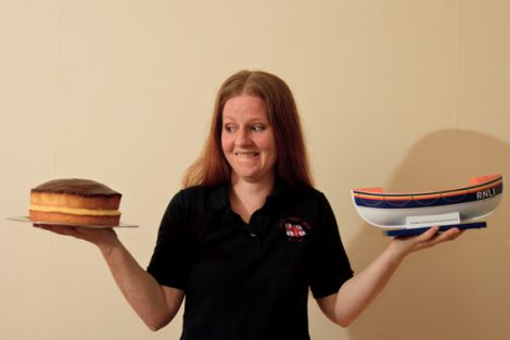 It's a tough choice... Wark is giving up cake to help raise money for her lifeboat crew training - Photo: Olivia Abbott