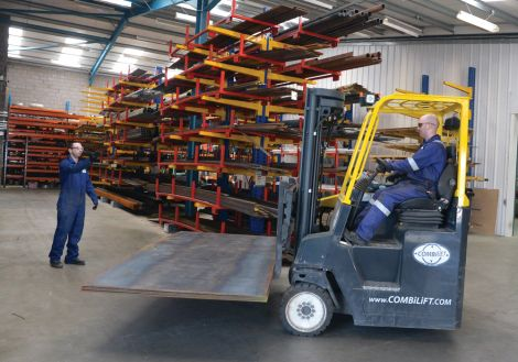 Forklift driver Lowrie Johnson is being watched by QHSE manager David Georgeson - Photo: Malcolm Younger/Millgaet Media.