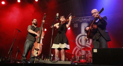 Canadian fiddle and step dance powerhouse April Verch with her band stood out as one of the highlights of the four day festival. Photo Olivia Abbott