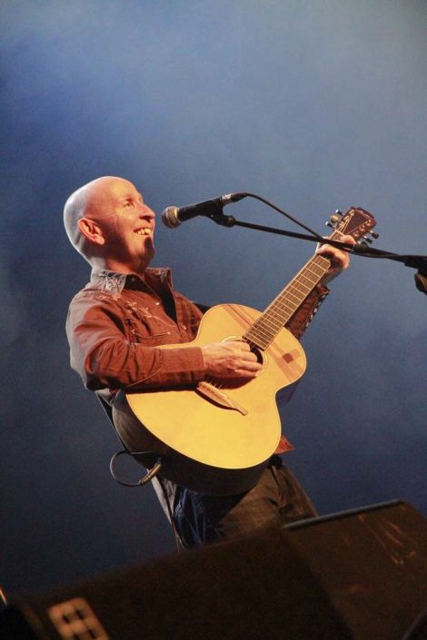Northern Ireland singer songwriter Kieran Goss returned to the festival after a 23 year absence. As you can see he thought it was worth the wait. Photo Olivia Abbott
