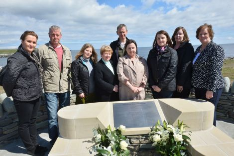 Relatives of those who died in the Chinook disaster - Photo: Malcolm Younger/Millgaet Media