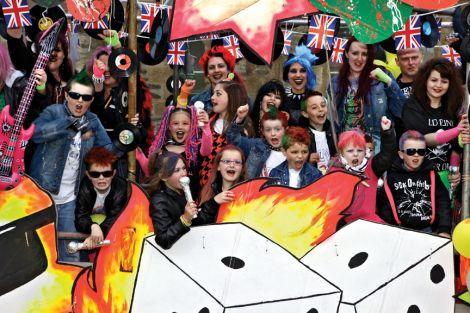 Carnival fever in Lerwick.