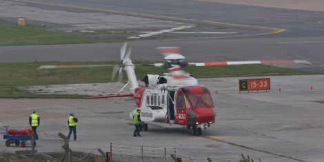 Sumburgh Airport was closed to allow the emergency servicesto deal with the ongoing incident - Photo: Ronnie Robertson