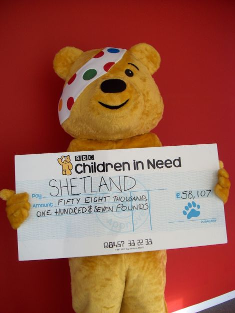 Children In Need gave almost £60,000 to Shetland, well over twice the amount raised at last year's incredible event.