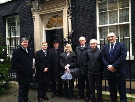 Alistair Carmichael with last December's delegation to Downing Street to meet chief treasury secretary Danny Alexander.