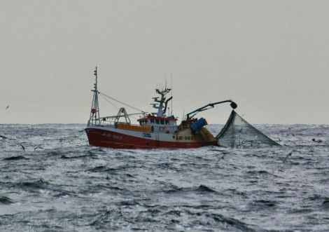 Shetland whitefish boat Copious working off the islands