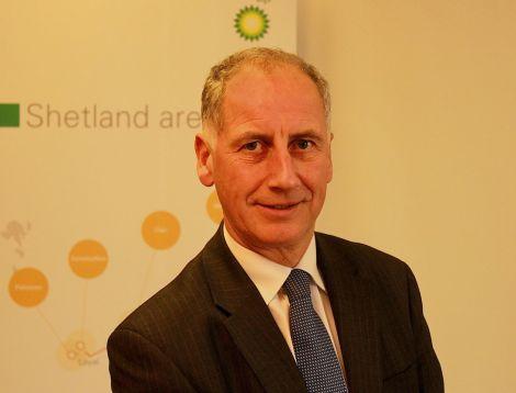 BP's North Sea regional president Trevor Garlick in Shetland on Thursday to announce a major jobs boost.