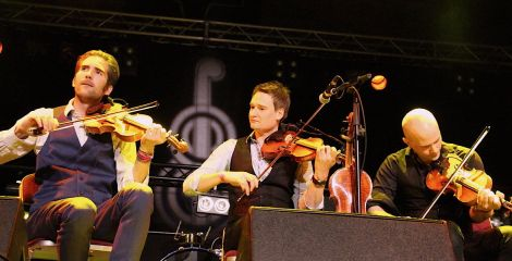 The Nordic Fiddlers Bloc masterfully blending the music of Norway, Sweden and Shetland.