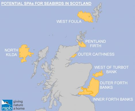 The special protection areas being proposed by the RSPB