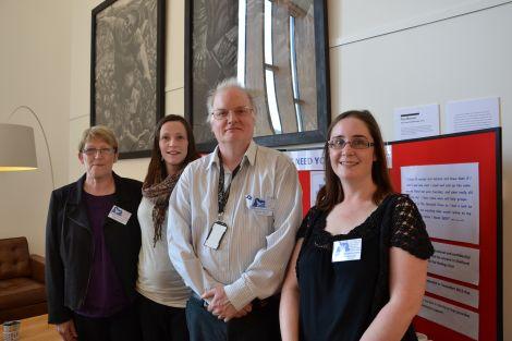 From left: SBSS fundraiser and trustee Kathleen McArthur, volunteer Rhona McArthur, vice chairman Donald Anderson and admin assistant Ellen Hughson. Photo: Shetnews