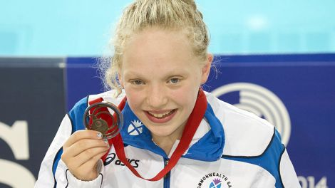 Erraid Davies from Skeld with her Commonwealth Games bronze medal