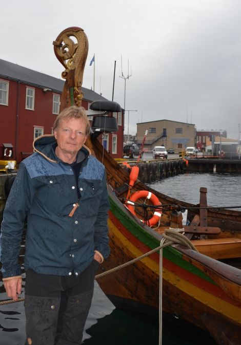 Nobody was hurt when the mast snapped and Captain Björn Ahlander said the crew were disappointed but looking forward to spending the weekend in Lerwick. Photo: Shetnews/Neil Riddell