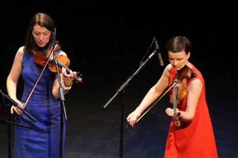 Curators Jenna and Bethany Reid performing. Photo: Davie Gardner