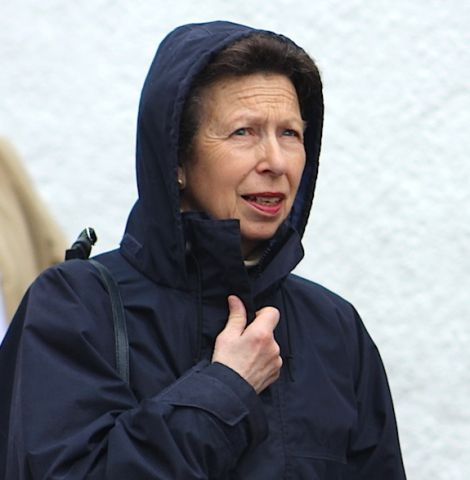 Princess Anne during her rain-soaked visit to Shetland in June when she opened the refurbished Sumburgh lighthouse visitor centre.