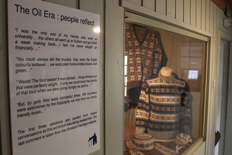Shetland knitwear during the oil boom era - Photo: Hans J Marter/Shetland News