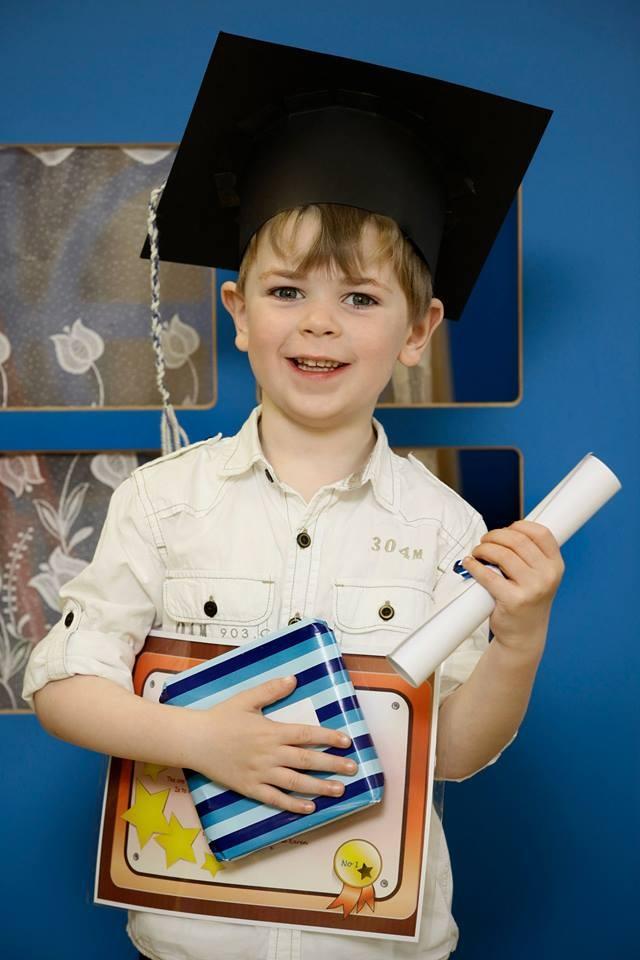 Six year old James Hawick.