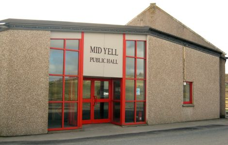 Mid Yell Hall.