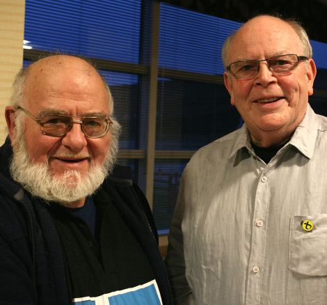 The local SNP branch's vice convener Charlie Gallagher (left) and its newly elected convener Robbie McGregor - Photo: SNP