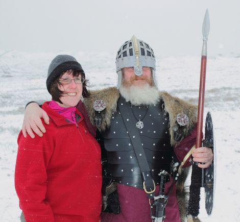 The jarl and his real life partner Cheryl Haynes. Photo Kevin Osborn