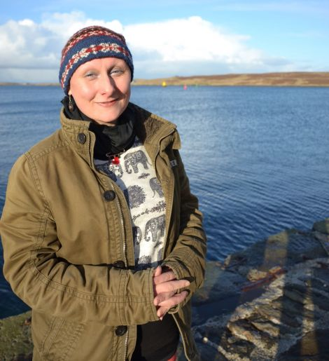Inge Thomson, back in Shetland visiting family this week, has released a CD version of her project 'Da Fishing Hands'. Photo: Shetnews/Neil Riddell