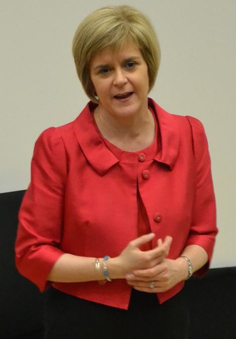 Nicola Sturgeon speaking at a packed meeting in the Shetland Museum and Archives in summer last year _ Photo: Neil Riddell/ShetNews