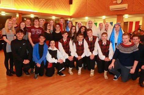 The Turkish visitors with their peers from Latvia, Norway and Sardinia - Photo: Gordon Stove/Brae High School