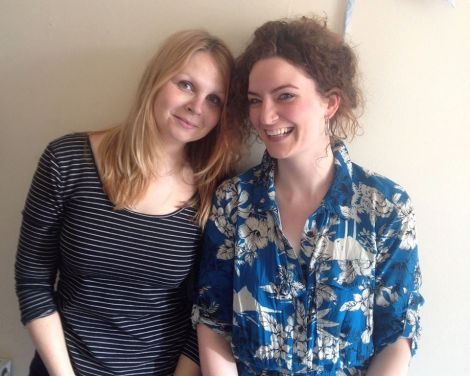 Gabby Cluness (right) and her friend Angela Ireland are setting up a cafe in Glasgow's south side to help asylum seekers to integrate.
