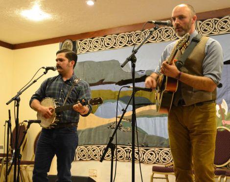 Cahalen Morrison and Eli West: blissful musical companionship. Photo: Shetnews/Neil Riddell