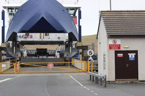 The ferry terminal at Toft, the gateway from the Shetland mainland to Yell, Unst and Fetlar.